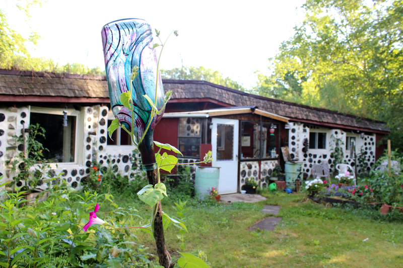Front of Earthward on July 6, 2016 with an artfully decorated bottle by the amazing Mim Olsen in the foreground. Photo: Jamie L. Manser