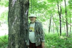 John Rylander and a big ole maple tree. Photo: Jamie L. Manser