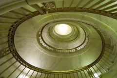 This is a marble staircase at the Supreme Court that was not open to the public. Photo: Jamie L. Manser