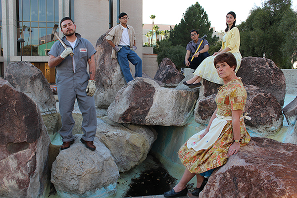 """""""Barrio Stories"""" features Borderlands Theater actors bringing to life the oral histories of the residents whose homes were lost to the construction of the convention center. photo: Marc Pinate"""