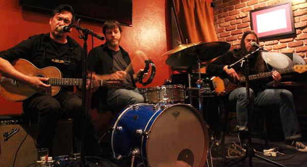 Joe Peña, Alan Anderson, Duane Hollis as Greyhound Soul at Dante's Fire, Feb. 21, 2014. photo: Jamie Manser