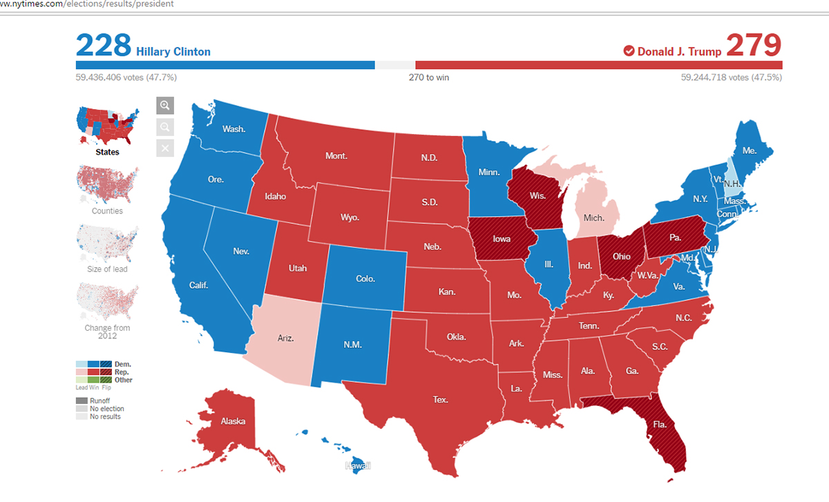 Screenshot of NYT Presidential election results. http://www.nytimes.com/elections/results/president