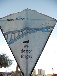 "An example of a kite made as part of ""Made for Flight,"" a youth project started by T.C. Tolbert at Casa Libre to commemorate the lives of murdered transgender people with kite building and poetry writing. Photo courtesy Kristen Nelson"